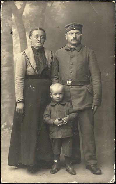Soldat allemand en famille